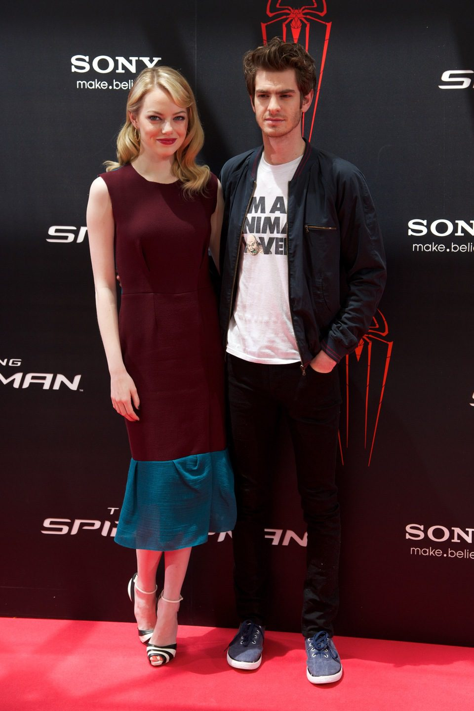 Emma Stone y Andrew Garfield presentan 'The Amazing Spider-Man' en Madrid