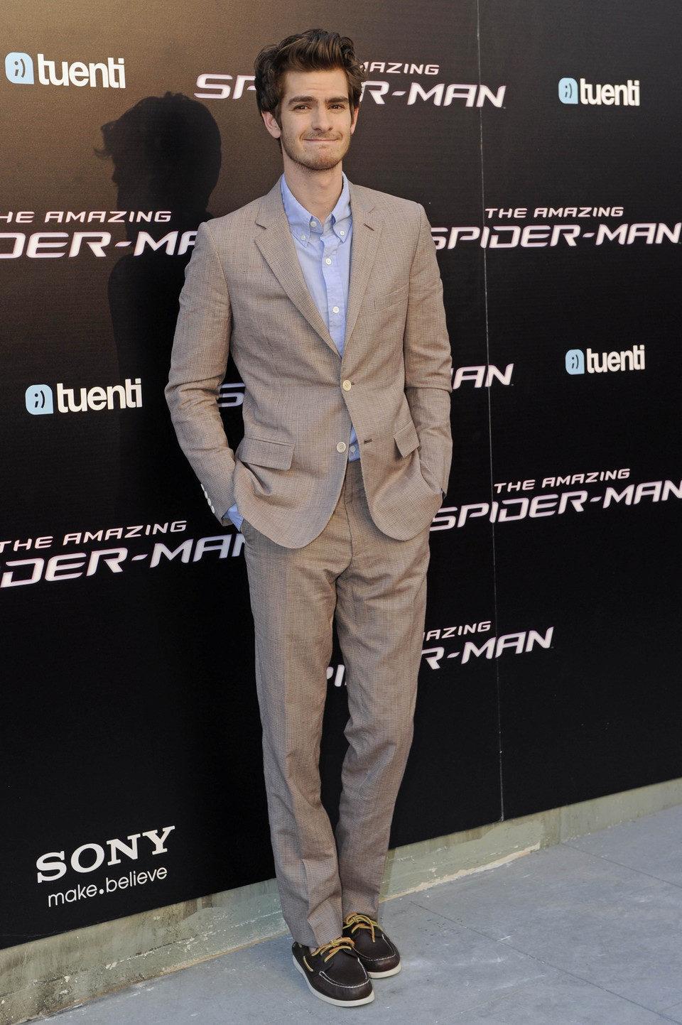 Andrew Garfield en la premiére madrileña de 'The Amazing Spider-Man'