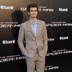 Andrew Garfield en la premiére madrileña de 'The Amazing Spider-Man'