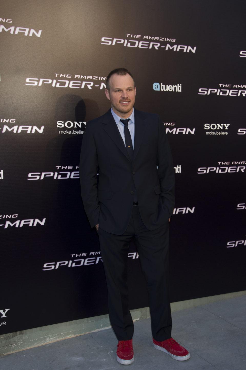 Marc Webb en la premiére de 'The Amazing Spider-Man' en Madrid