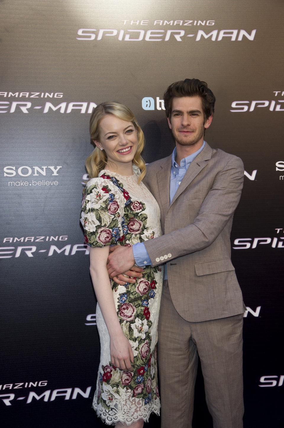 Emma Stone y Andrew Garfield estrenan en Madrid 'The Amazing Spider-Man'