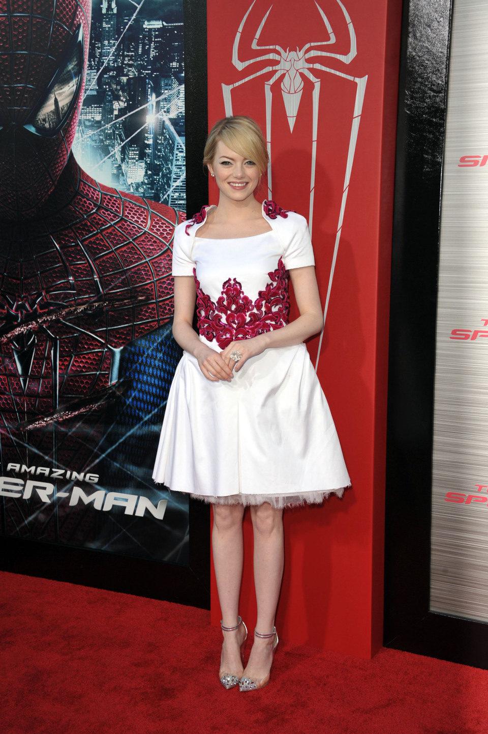 Emma Stone en la premiére de 'The Amazing Spider-Man' en Los Angeles