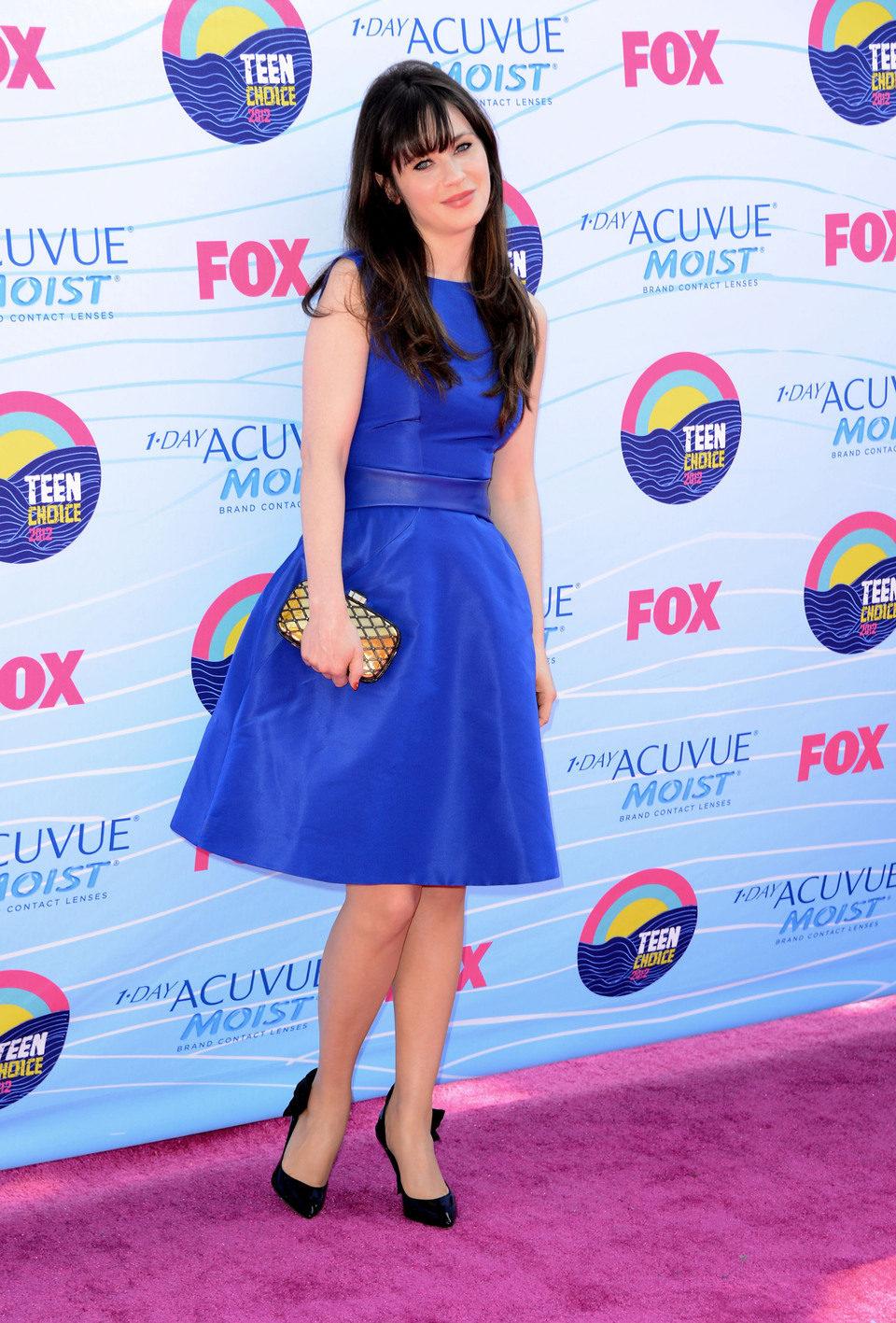 Zooey Deschanel en los Teen Choice Awards 2012