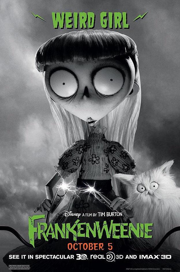 Póster de Chica rara, de 'Frankenweenie'