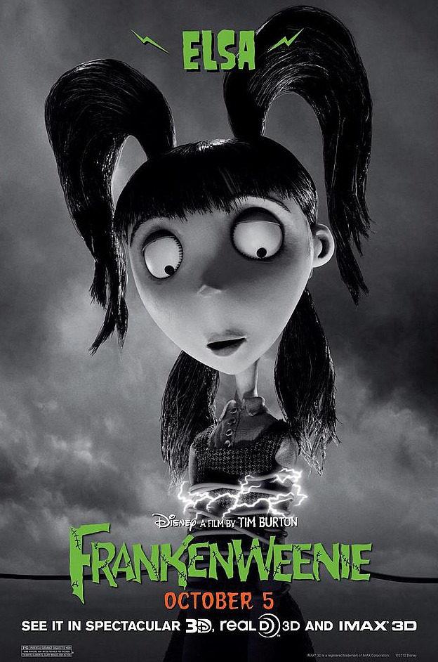 Póster de Elsa, de 'Frankenweenie'
