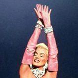 Marilyn Monroe con su famoso vestido rosa