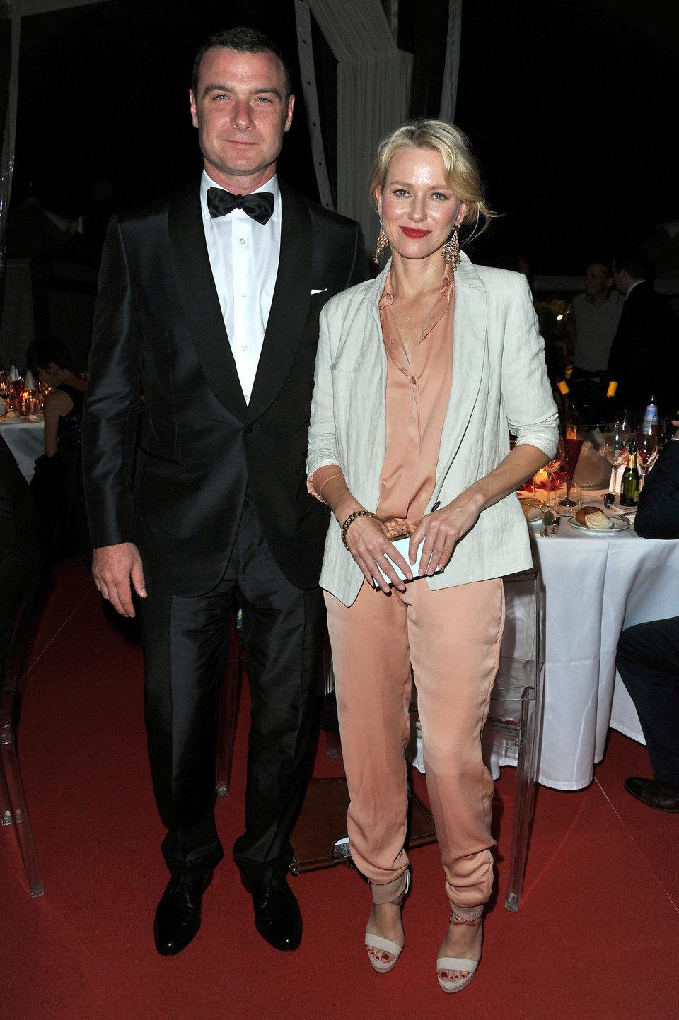 Liev Schreiber y Naomi Watts en la Mostra de Venecia 2012