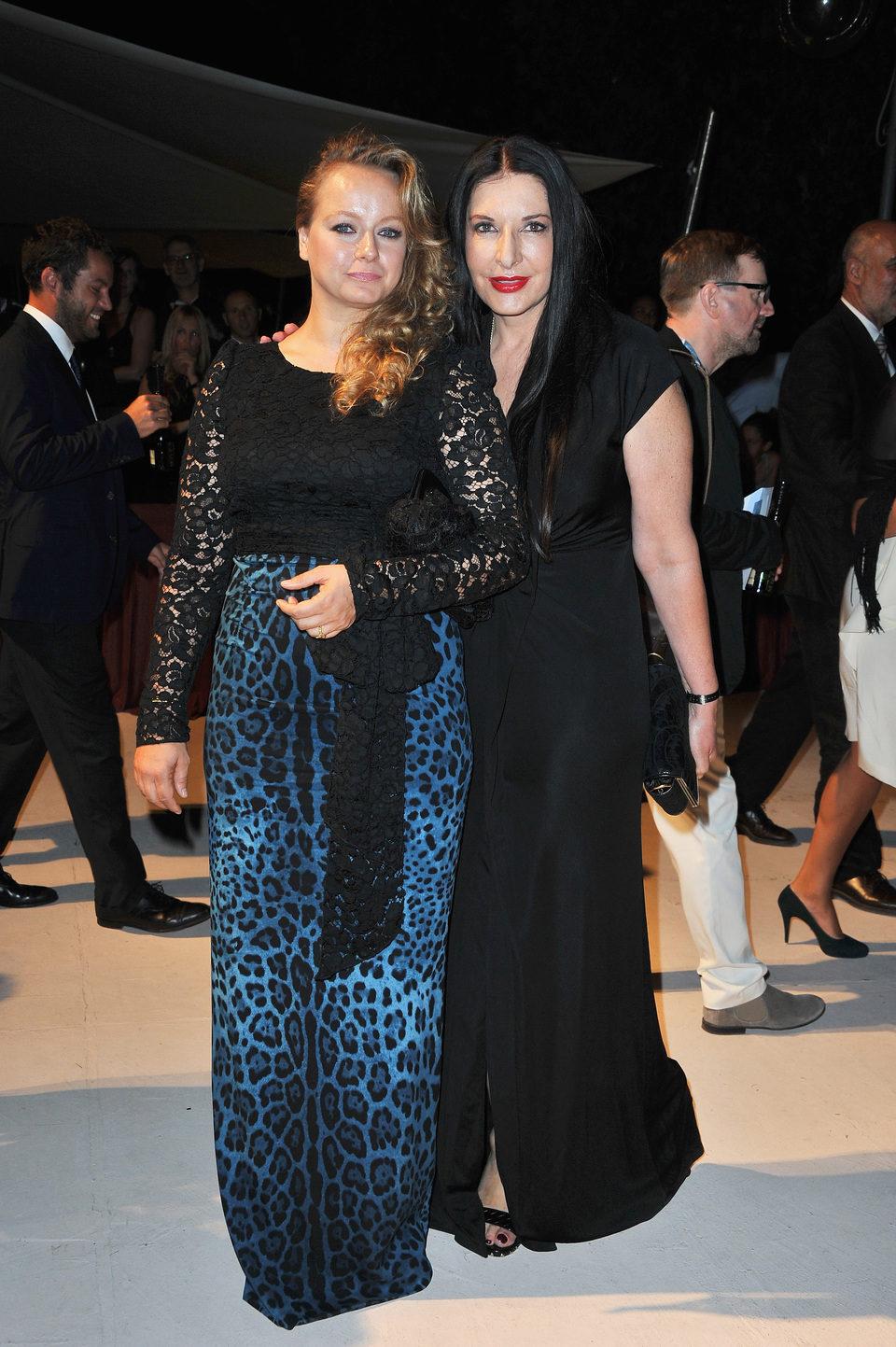 Samantha Morton y Marina Abramovic en la Mostra de Venecia 2012