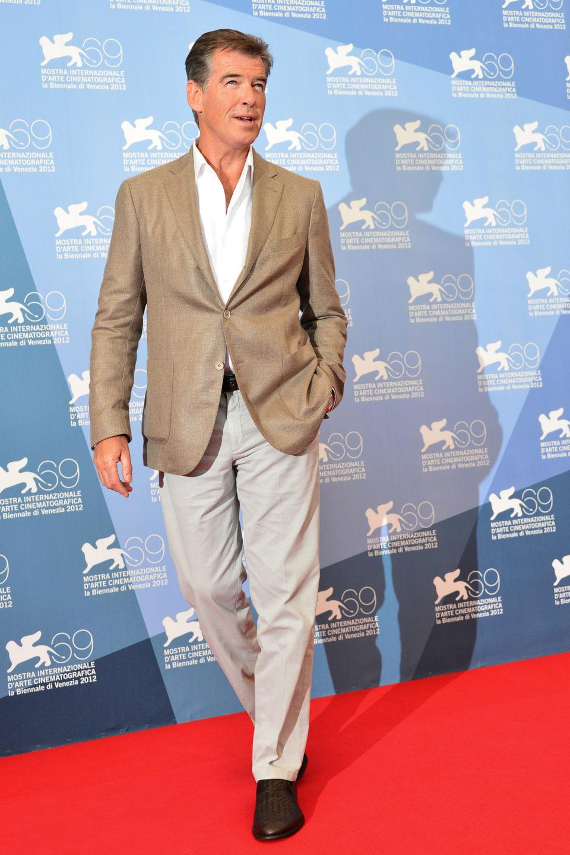 Pierce Brosnan en la Mostra de Venecia 2012