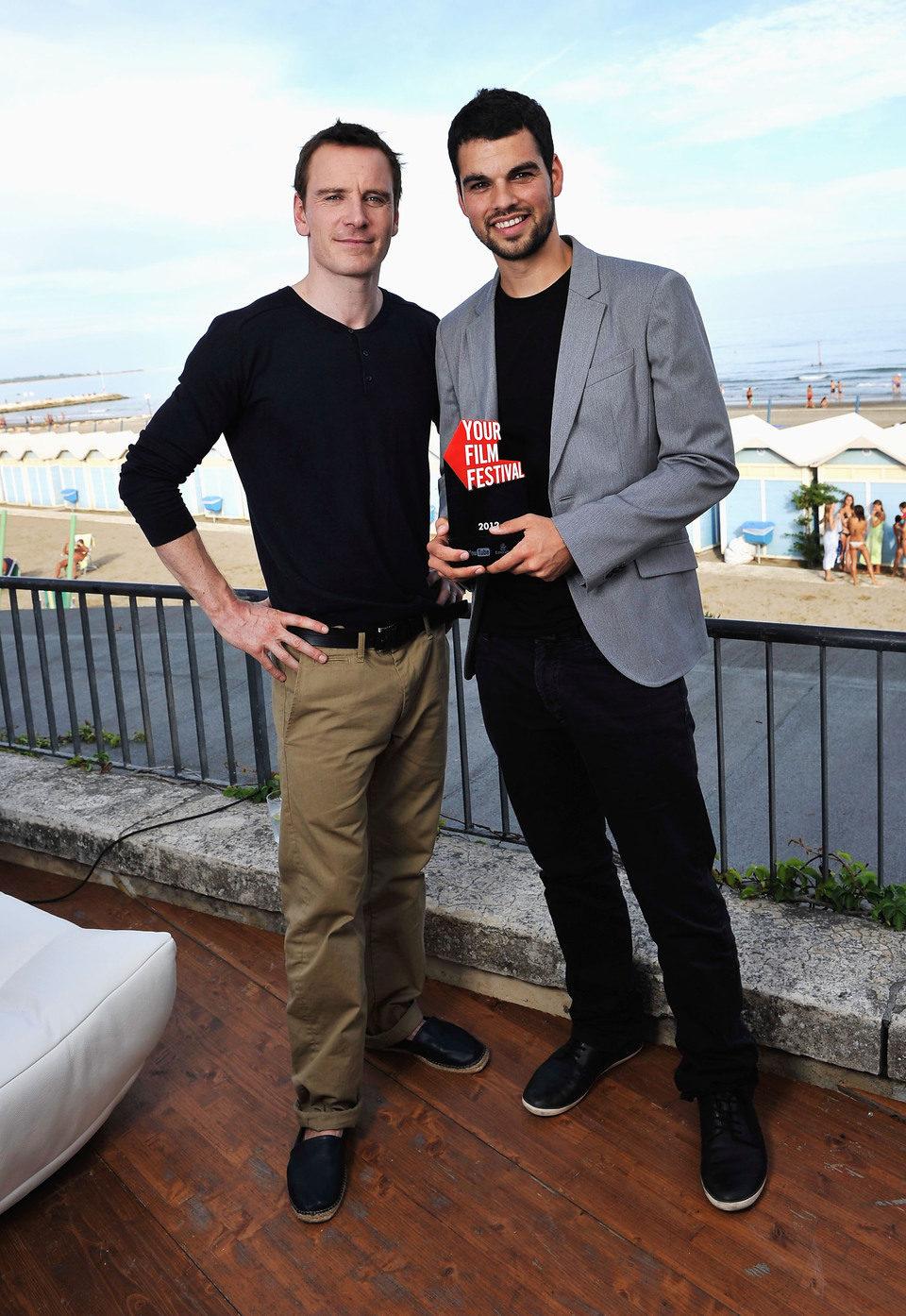 Michael Fassbender y David Victori en la Mostra de Venecia 2012