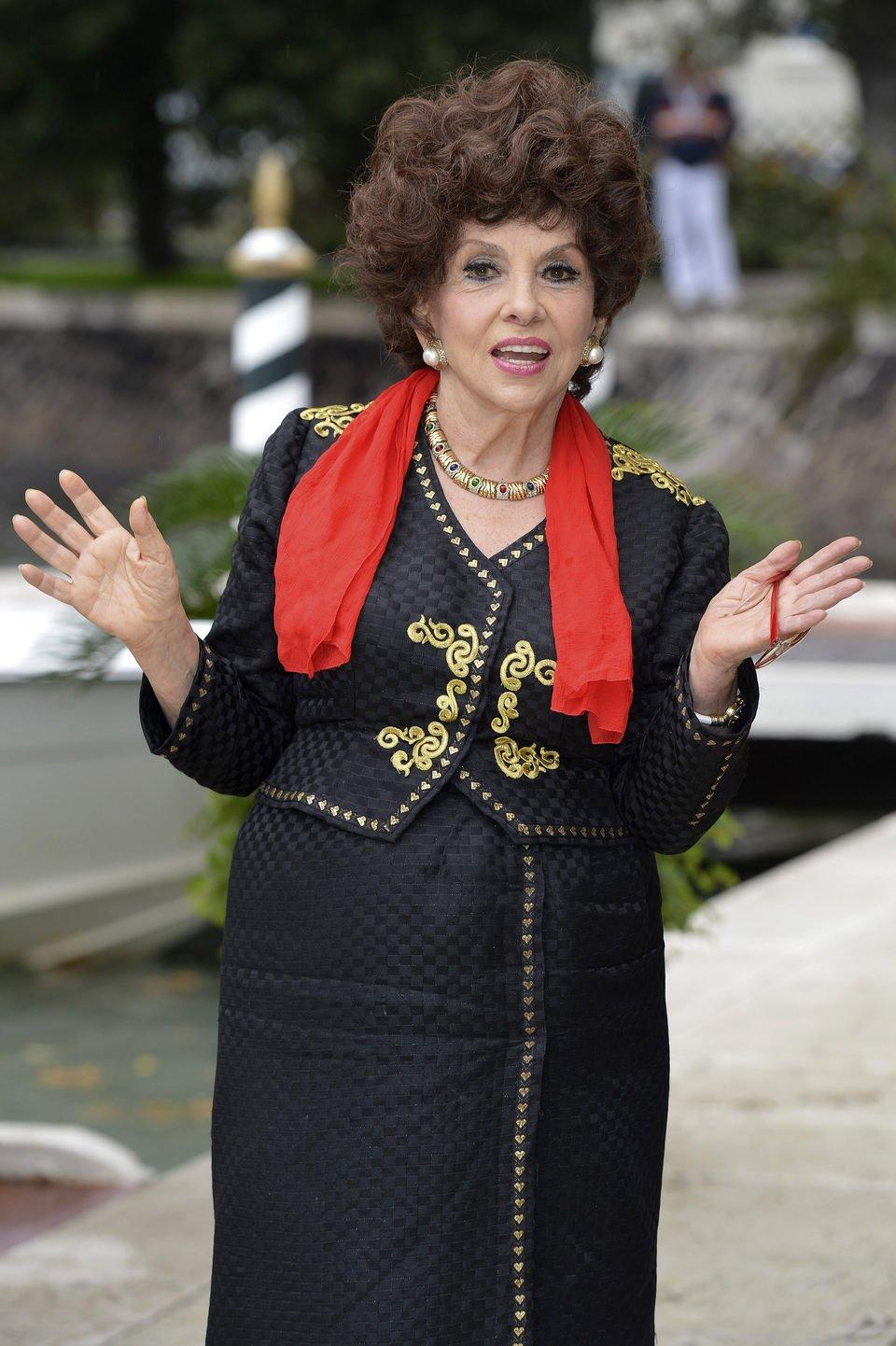 Gina Lollobrigida en la Mostra de Venecia 2012
