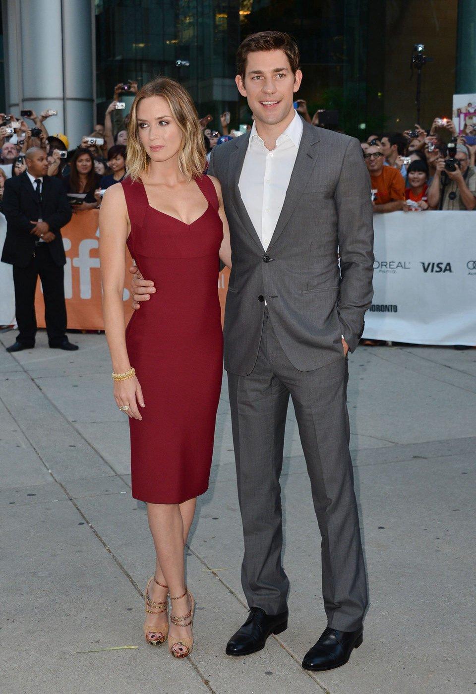 Emily Blunt y John Krasinski en el TIFF 2012
