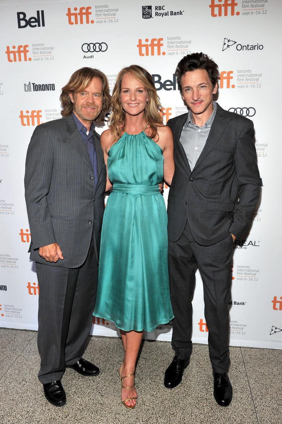 William H. Macy, Helen Hunt y John Hawkes en el TIFF 2012