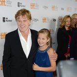 Robert Redford y Jackie Evancho en el TIFF 2012