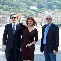 Nicholas Jarecki, Susan Sarandon y Richard Gere en el Festival de San Sebastián 2012
