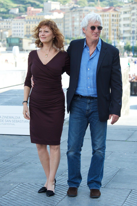 Susan Sarandon y Richard Gere en el Festival de San Sebastián 2012