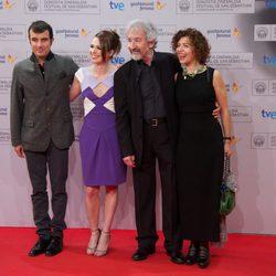 Javier Rebollo, Valeria Alonso, José Sacristán e Iciar Bollaín en el Festival de San Sebastián 2012