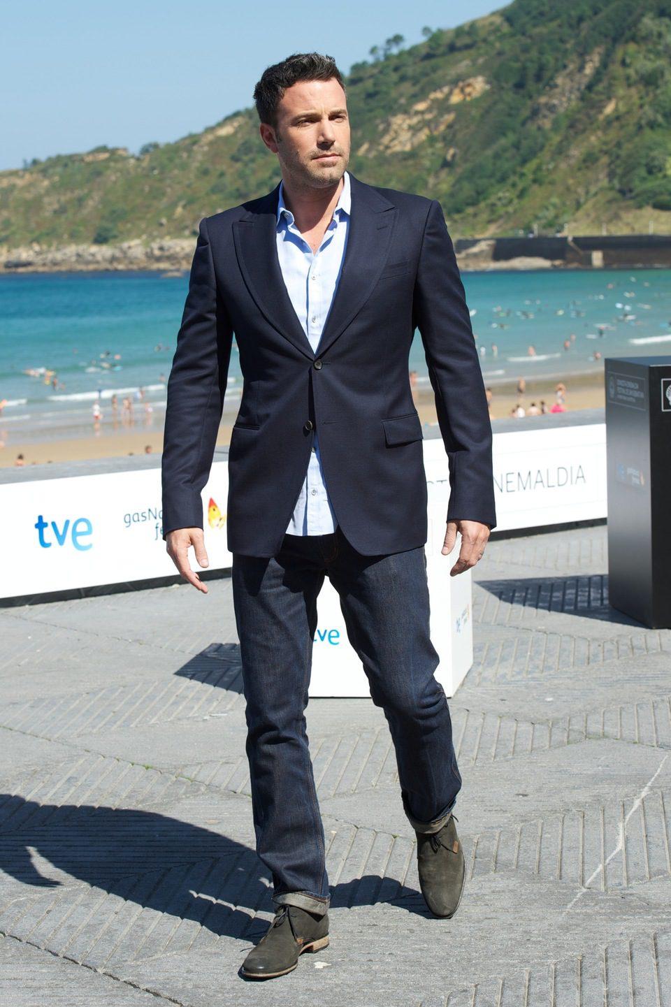 Ben Affleck posa en el Festival de San Sebastián 2012