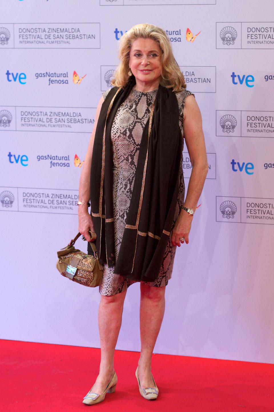 Catherine Deneuve en el Festival de San Sebastián 2012