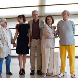 El equipo de 'El artista y la modelo' en el Festival de San Sebastián 2012