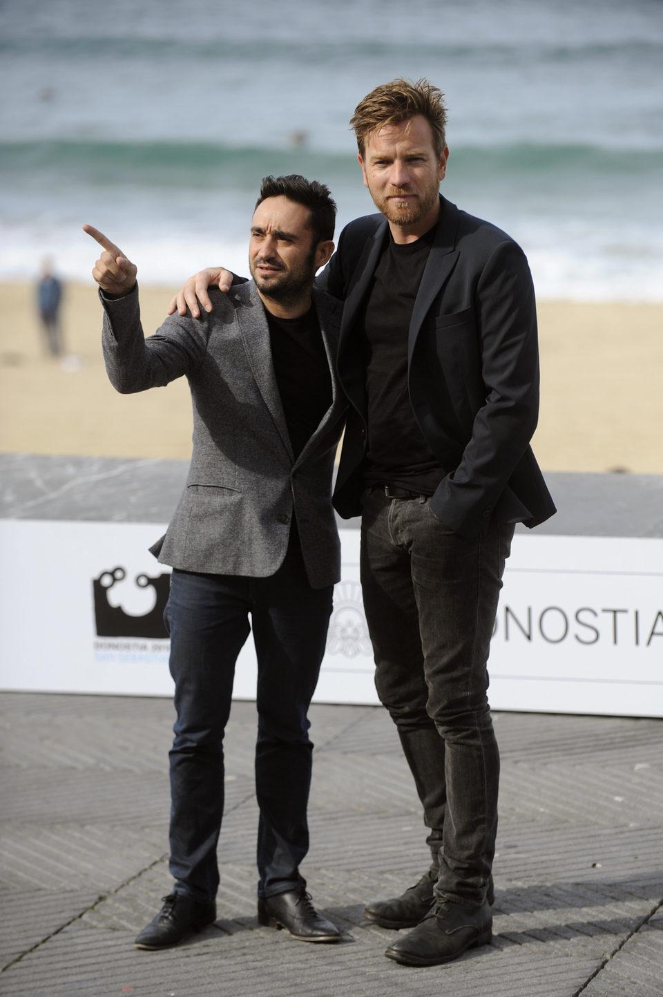 Juan Antonio Bayona y Ewan McGregor en el Festival de San Sebastián 2012