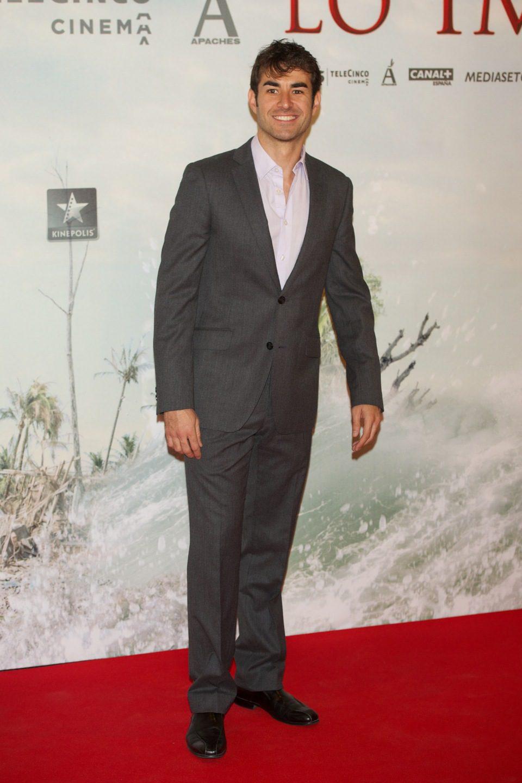 Daniel Muriel en la premiére de 'Lo imposible'