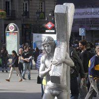 Hugo Silva como Jesucristo en el rodaje de 'Las brujas de Zugarramurdi'