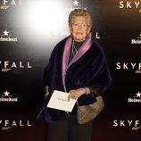 Pilar Bardem en la premiere de 'Skyfall' en Madrid