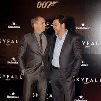 Daniel Craig y Javier Bardem en la premiere de 'Skyfall' en Madrid