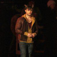 Daniel Radcliffe en el rodaje de 'Horns'