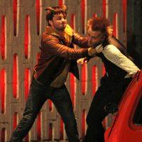 Daniel Radcliffe y Joe Anderson rodando una escena de 'Horns'
