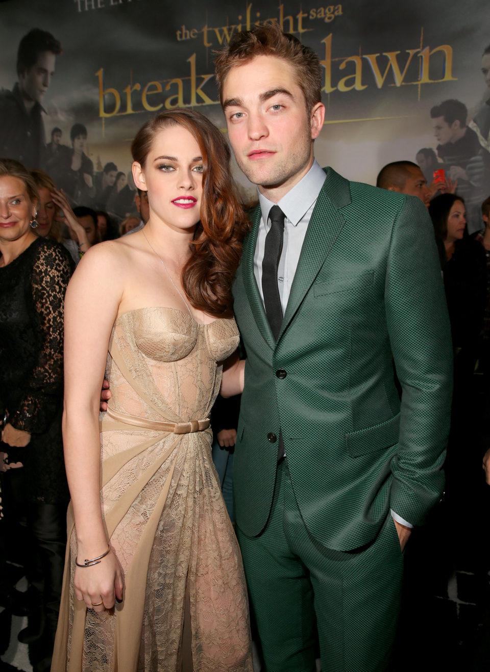 Kristen Stewart y Robert Pattinson en el estreno de 'Amanecer. Parte 2' en Los Ángeles
