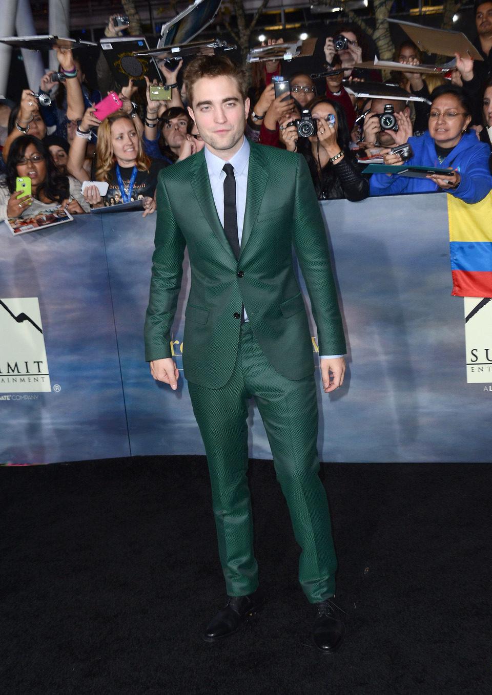 Robert Pattinson en el estreno de 'Amanecer. Parte 2' en Los Ángeles