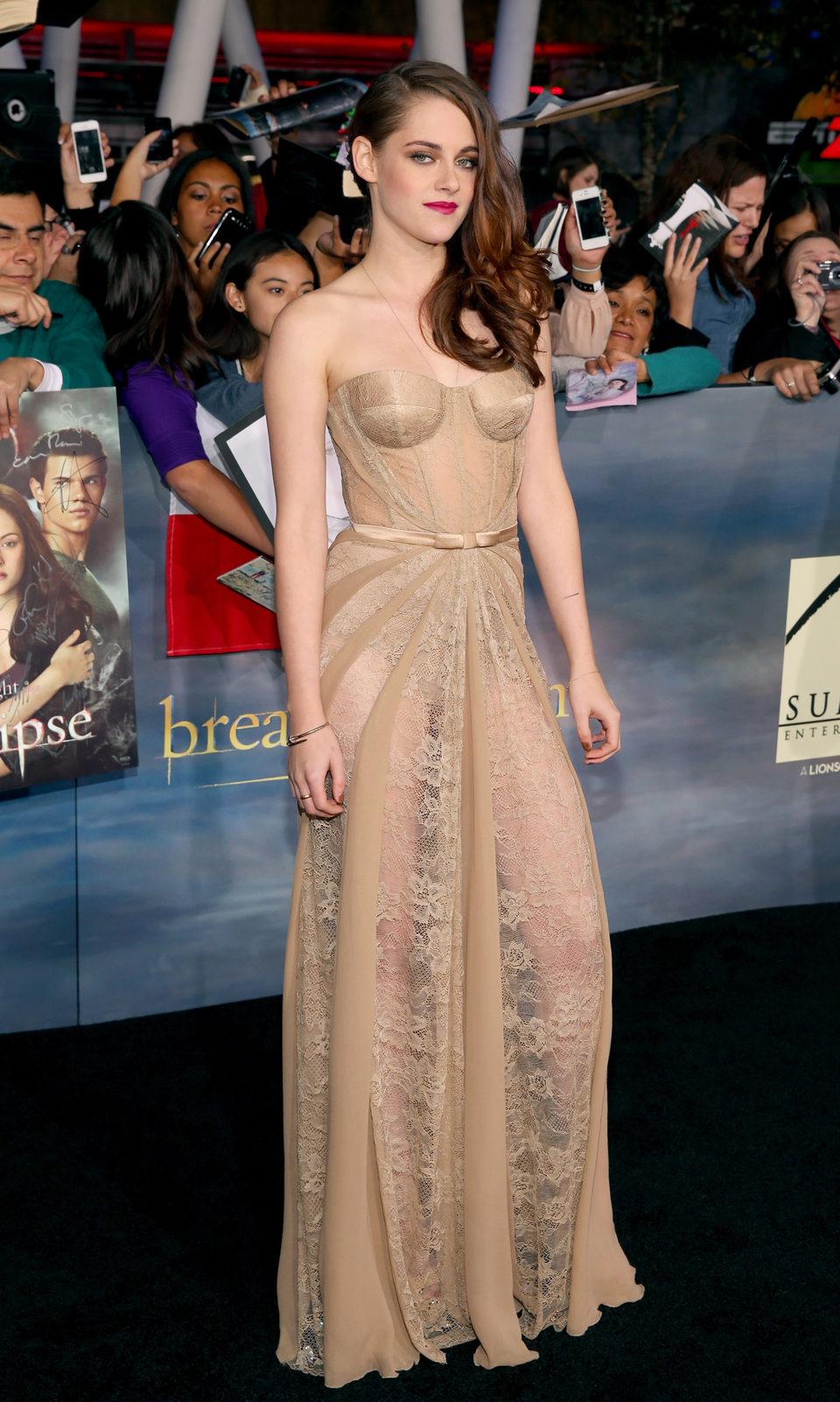 Kristen Stewart en el estreno de 'Amanecer. Parte 2' en Los Ángeles