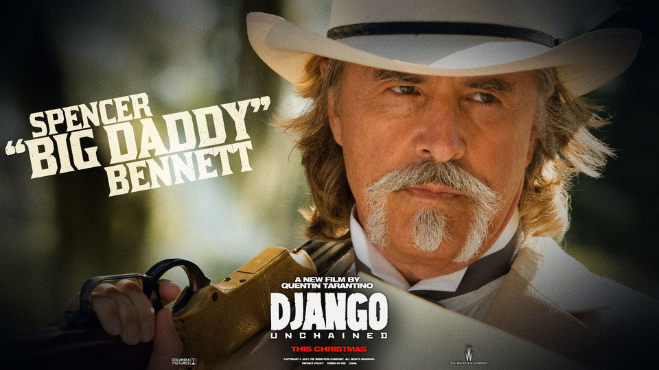 Póster de Bennett en 'Django desencadenado'