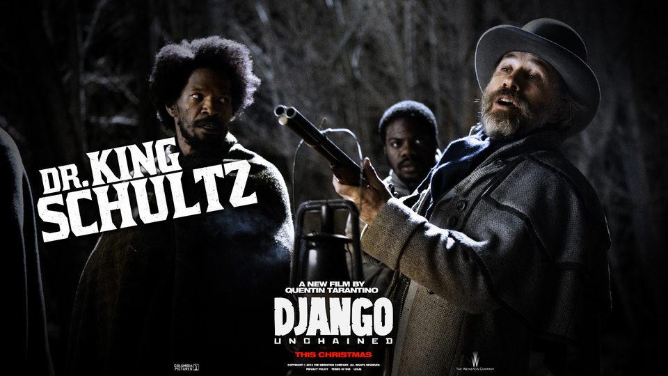 Póster del Dr King Schultz en 'Django desencadenado'