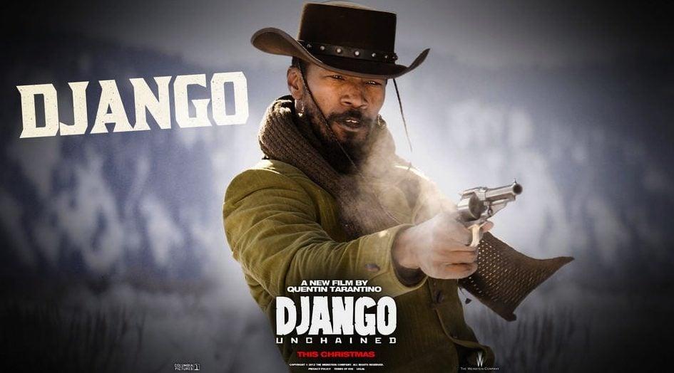 Póster de Jamie Foxx como Django en 'Django desencadenado'