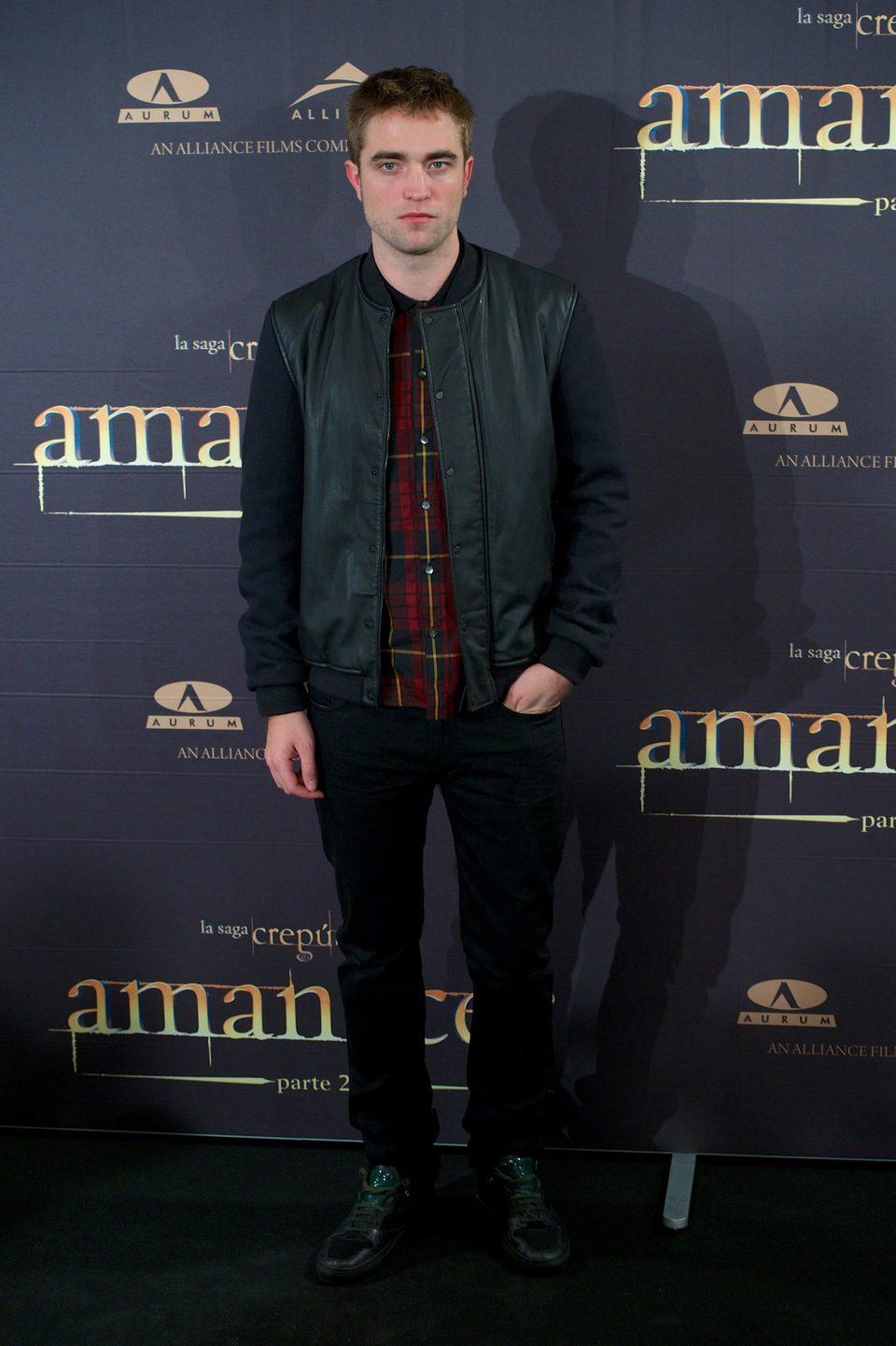 Robert Pattinson en la presentación en Madrid de 'Amanecer. Parte 2'