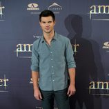Taylor Lautner en la presentación en Madrid de 'Amanecer. Parte 2'