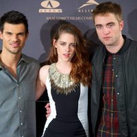 Taylor Lautner, Kristen Stewart y Robert Pattinson presentan en Madrid 'Amanecer. Parte 2'
