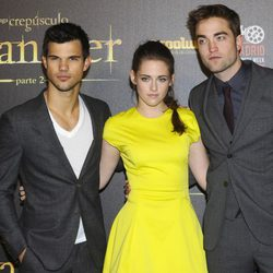 Taylor Lautner, Kristen Stewart y Robert Pattinson estrenan en Madrid 'Amanecer. Parte 2'