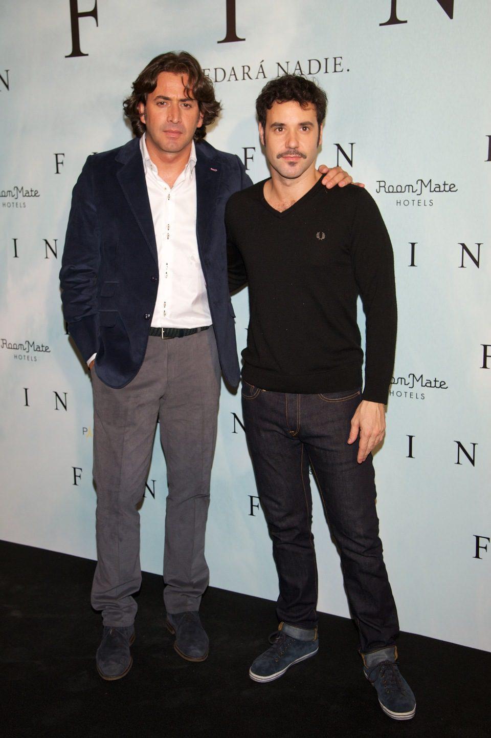 Antonio Garrido y Miquel Fernández en la presentación de 'Fin' en Madrid
