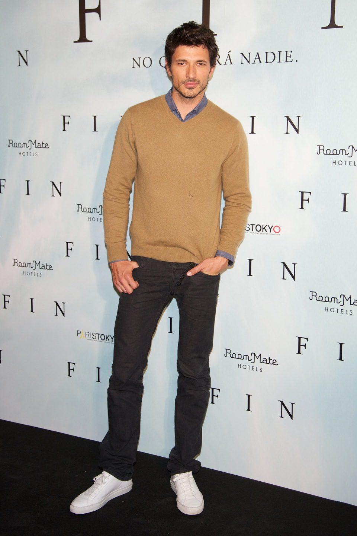 Andrés Velencoso en la presentación de 'Fin' en Madrid