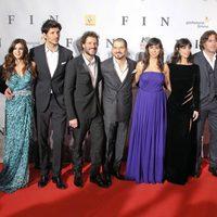 Todo el elenco de 'Fin' en la première en Madrid