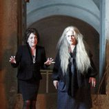 Carmen Maura y Terele Pávez en el rodaje de 'Las brujas de Zugarramurdi'