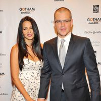Matt Damon y Luciana Barroso en los Gotham Awards 2012 de cine independiente
