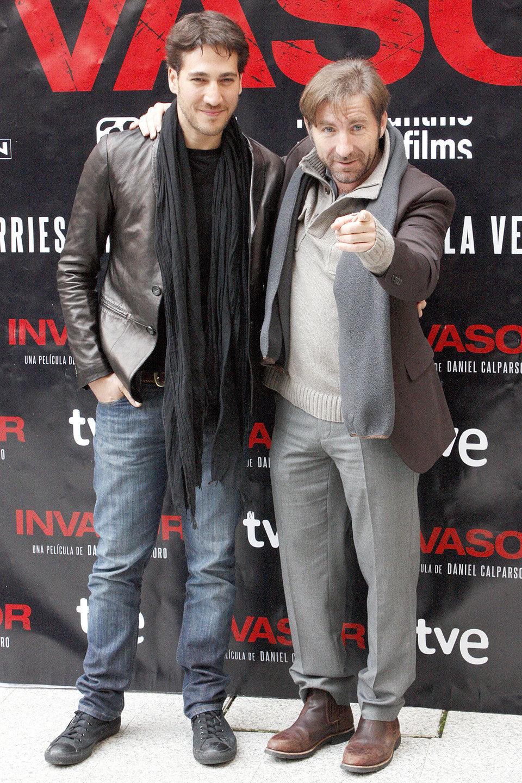 Antonio de la Torre y Alberto Amman en la presentación de 'Invasor' en Madrid