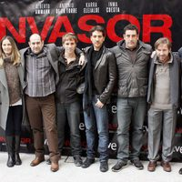 El reparto de 'Invasor' en la presentación de la película en Madrid
