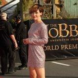 Evangeline Lilly en la premiere de 'El Hobbit: Un viaje inesperado' en Nueva Zelanda
