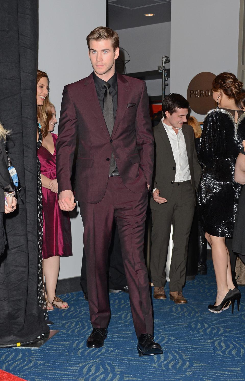 Liam Hemsworth en la gala de los People's Choice Awards 2013